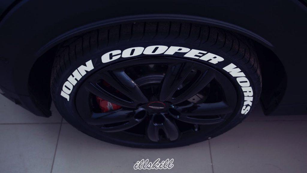 Белые надписи на шины